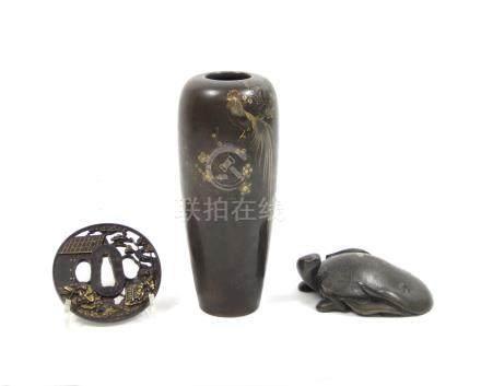 Three metal collectables Meiji era  (3)