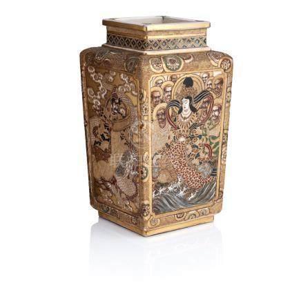 A Satsuma vase Meiji era, 19th century