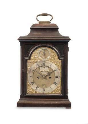 A good mid 18th century mahogany quarter repeating table clock with six pillar movement John Sterland, Nottingham