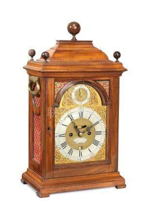 A mid 18th century walnut table clock Thomas Eastland, London