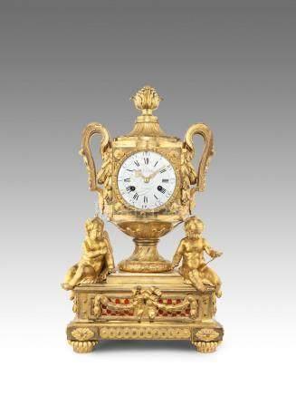A fine third quarter of the 18th century French ormolu mantel clock  D.F. Dubois, Paris