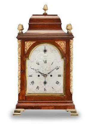 A late 18th century mahogany table clock  John Pratt, Dover