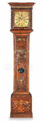 A 17th Century walnut and marquetry long case clock with lunar indication   Joseph Norris, Abingdon