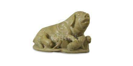 CHINESE POST REPUBLIC PERIOD HARDSTONE CARVING