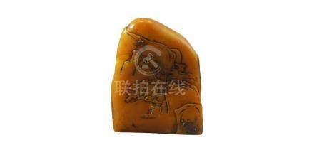 CHINESE POST REPUBLIC PERIOD SAOUSHAN STONE SCHOLAR'S BOULDER
