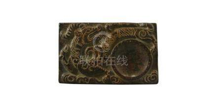 CHINESE POST REPUBLIC PERIOD SOAPSTONE INKWELL