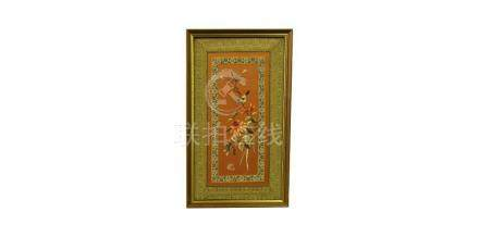 CHINESE POST REPUBLIC PERIOD EMBROIDERED PANEL