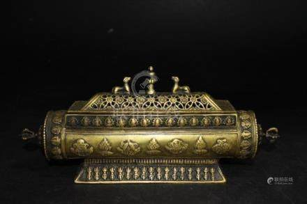 EXTREMELY RARE XUANGTONG 1909-11 BRONZE INCENSE BURNER