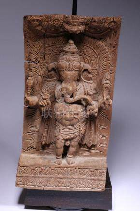 Chariot Plaque of Ganesh, India
