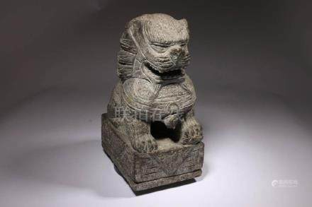 Chinese Stone Fu Temple Lion