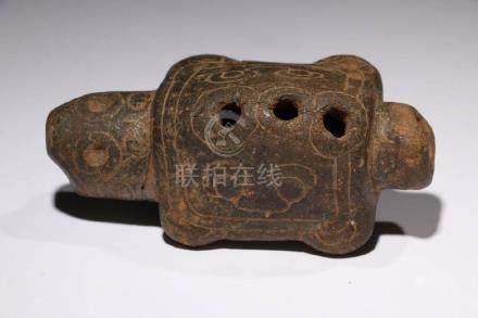 Pre-Columbian Turtle Whistle