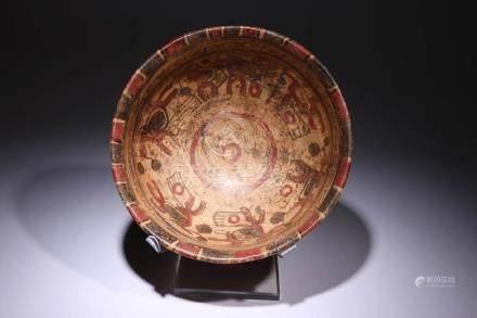 Pre-columbian Mayan Copador Bowl