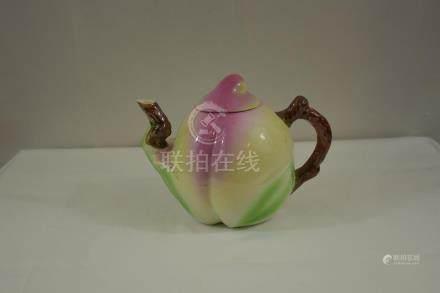 Chinese Peach Teapot