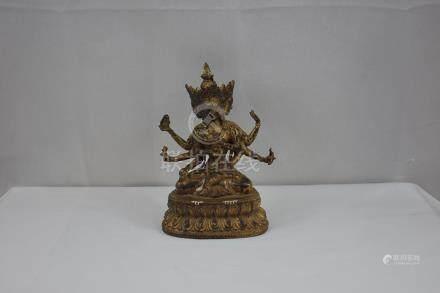Sino Tibetan Gilt Bronze