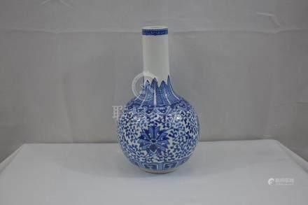 Chinese Blue & White Vase 20th C
