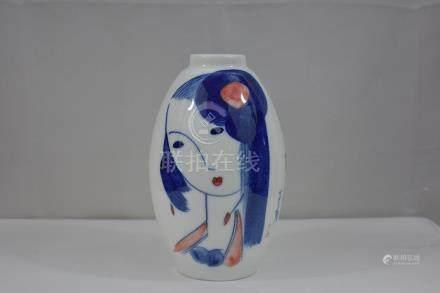Fine Chinese Eggshell Porcelain Vase 20th c