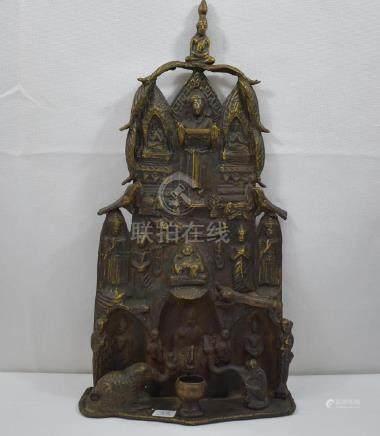 Asian Shrine Bronze Sculpture