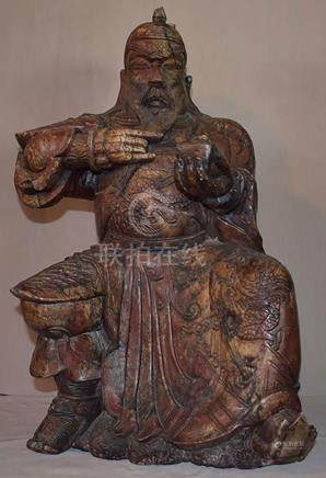 Finely Carved Seated Asian Sculpture