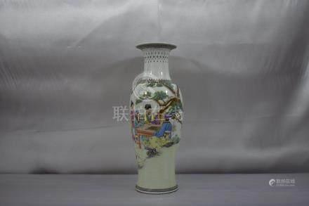 Chinese Famille Rose Vase w/Marks 20C