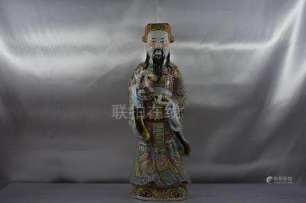 Chinese Famille Rose Figure large