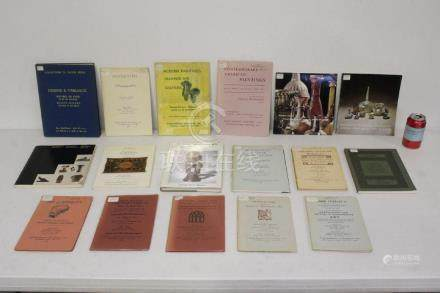 Lot of auction catalogs, mostly French auction houses