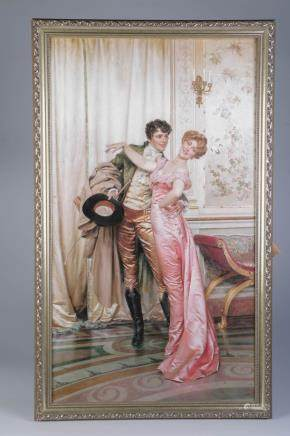 Elegant Reproduction of Dancing Couple Touch off