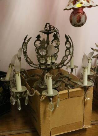 European Bronze Chandelier