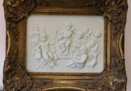 European Marble Carving on Painting of Children