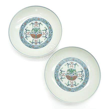 Pair of Floral Decor Plates