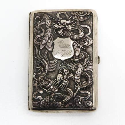 Highly Detailed Silver Cigarette Box