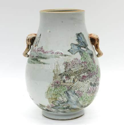 Polychrome Decor Vase