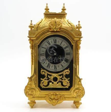 Gilt Bronze Table Clock