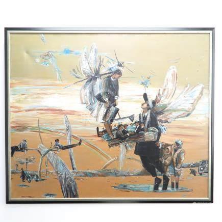 Signed Eduard Snageyev Oil on Canvas