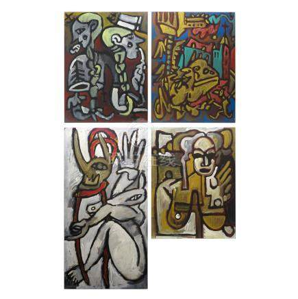 Lot of 4 Signed Michael Winkel Art Works