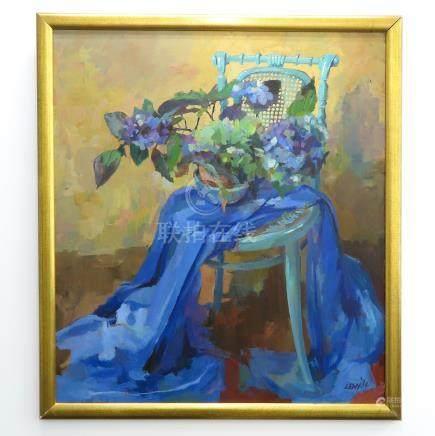 Signed Lenn Oil on Canvas