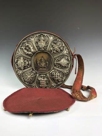 Large Tibetan Silver Buddha Box