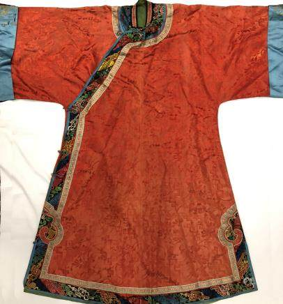 Chinese Embroidered Silk Robe