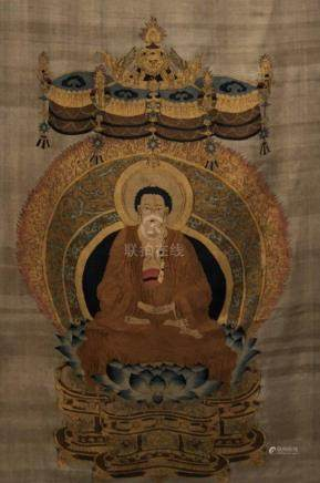 An KESI Buddhist Panel With Chinese Character