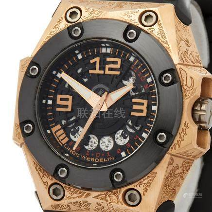 Linde Werdelin Oktopus Moon Tattoo 44mm 18K Rose Gold - OKT.11.MGTT.1