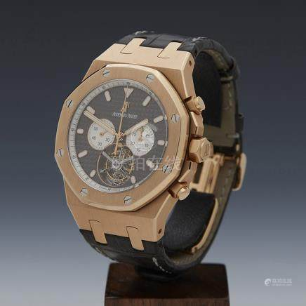 Audemars Piguet Royal Oak XL Tourbillon Chronograph 44mm 18K Rose Gold - 25977.OR.OO.D005.CR.01