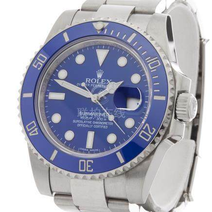 Rolex Submariner Smurf 40mm 18K White Gold - 116619LB