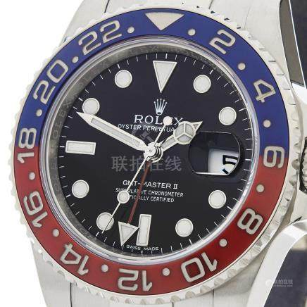 Rolex GMT-Master II Pepsi 40mm 18K White Gold - 116719BLRO