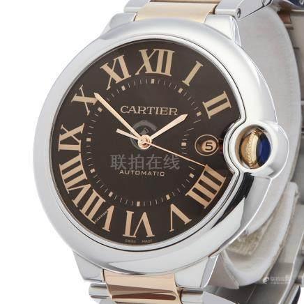 Cartier Ballon Bleu Stainless Steel & 18K Rose Gold - W6920032