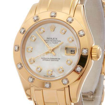 Rolex Pearlmaster 29 18K Yellow Gold - 80318