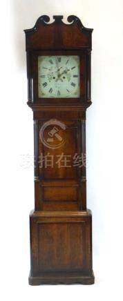 Robert Roberts, Bangor, an early 19th century eight-day longcase clock,