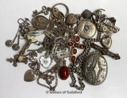 Selection of mostly silver jewellery, gross weight 113.0 grams