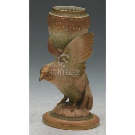 Royal Worcester Bird Figurine & Bowl