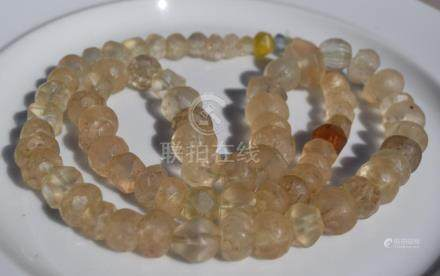 Antique Chinese Crystal Beads Necklace