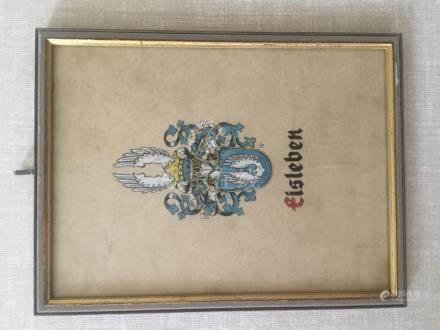 Antique Eisleben Sign Framed