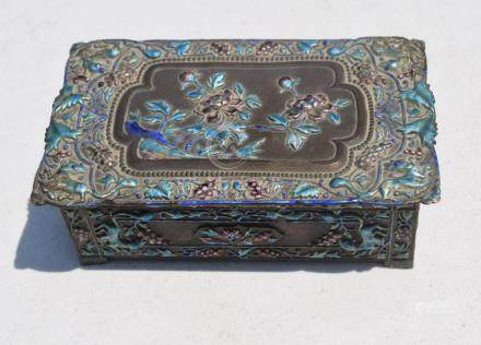 Antique Chinese Silver Enamel Box